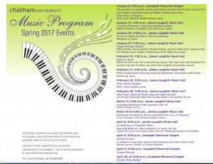 Spring 2017 Events