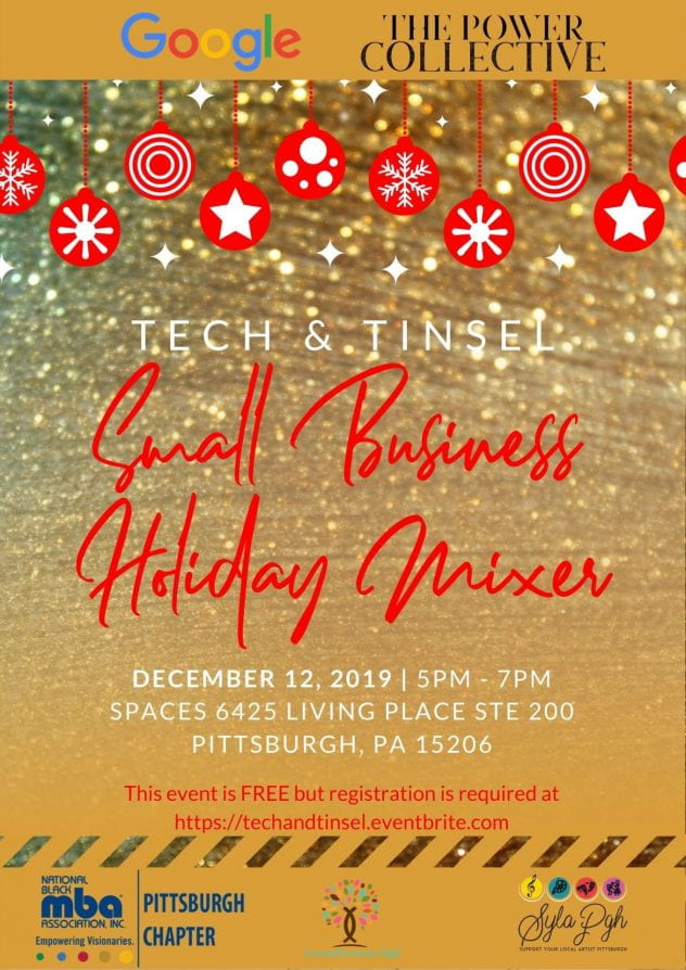 Tech & Tinsel - Small Business Holiday Mixer | December 12, 2019, 5-7PM | Spaces 6425 Living Place Ste 200, Pittsburgh, PA 15206