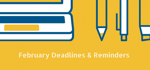 February Deadlines & Reminders