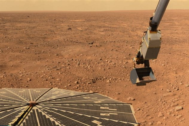Mars rover collected image