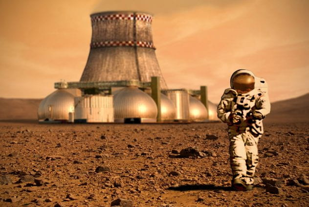 Fictionalized image of a potential colony on Mars