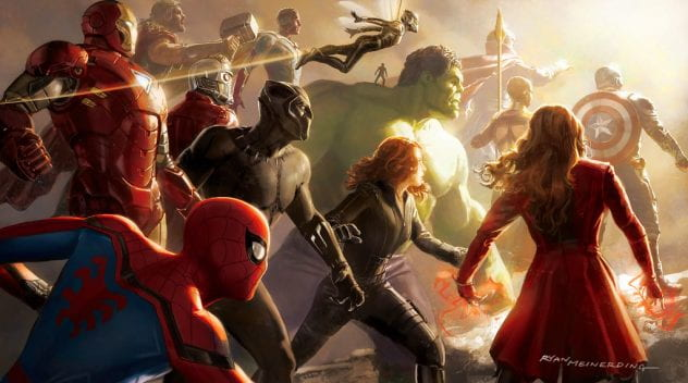 Image of Marvel's Avengers, specifically the character of Wanda.