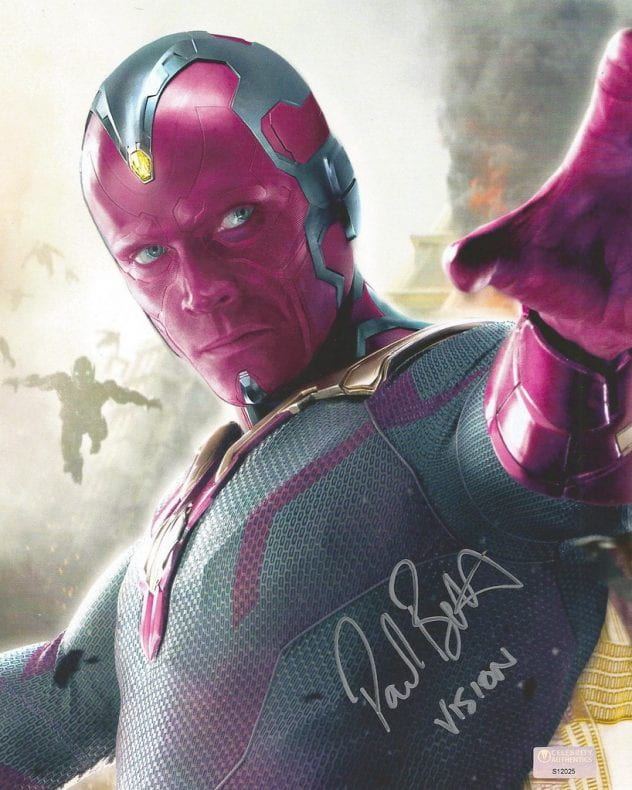 Painting of Marvel's Vision.
