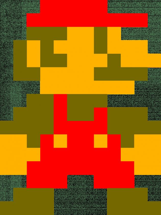 Pixelated image of Mario.