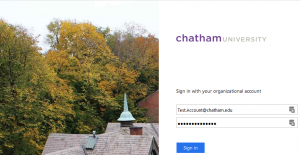 Chatham Specific Login Screen