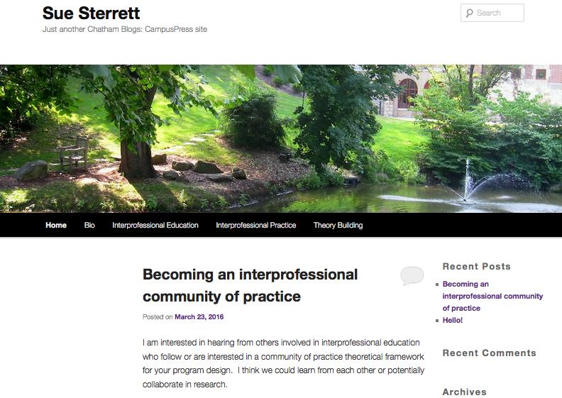 Sue Sterrett Blog