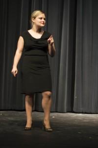 "Photo Credit: Kitoko Chargois Sklyer Wilcha performing ""My Angry Vagina"""