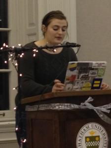 Photo Credit: Allison Albitz Maryann Fix reading at Spit Reel