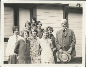 Mueller and young women at Eden Hall Farm