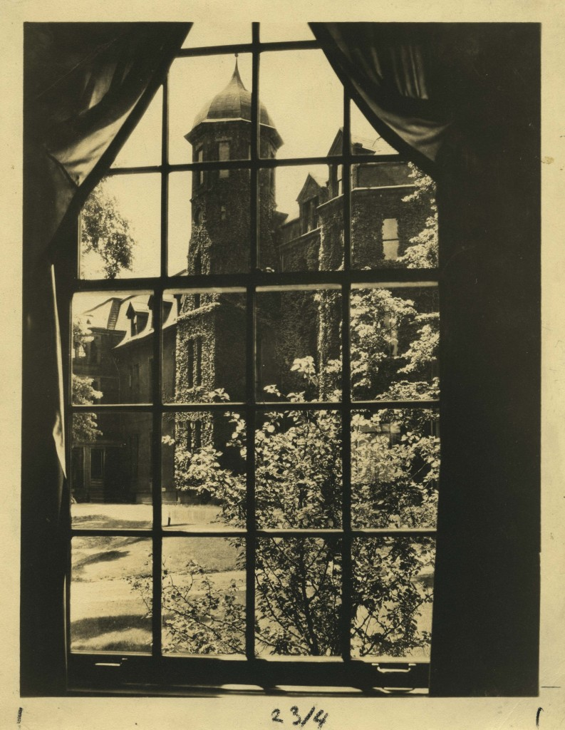 A view of the Berry Hall I tower.  Source: Chatham University Archives & Special Collections