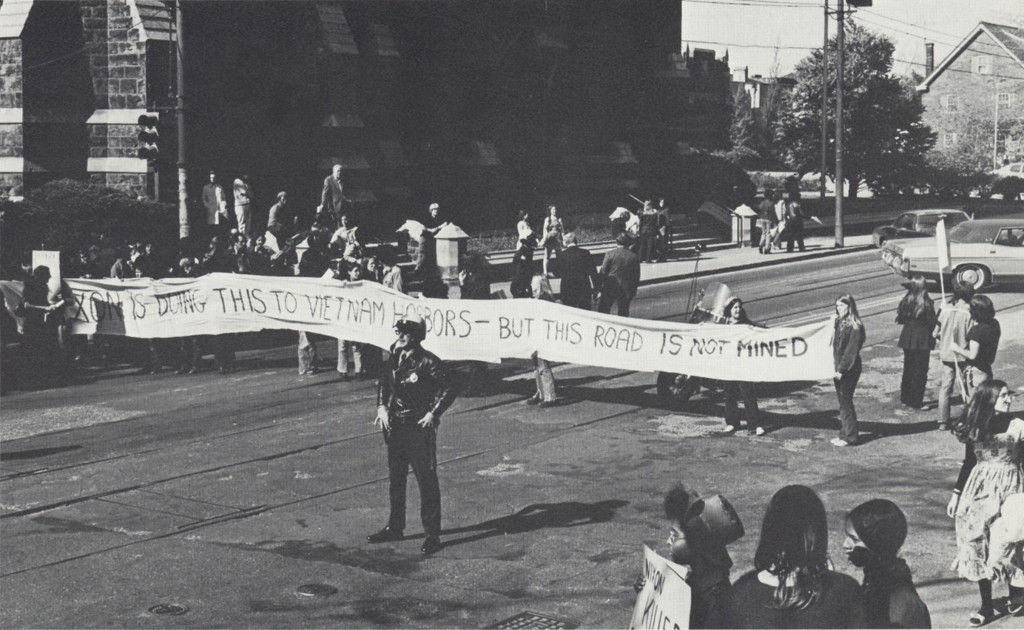 Chatham students protest the Vietnam War on Fifth Avenue