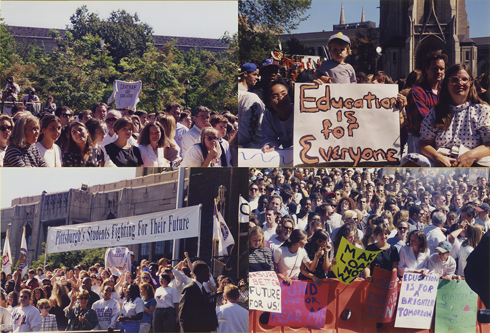 Images from 1995 rally to preserve federal funding for student loans