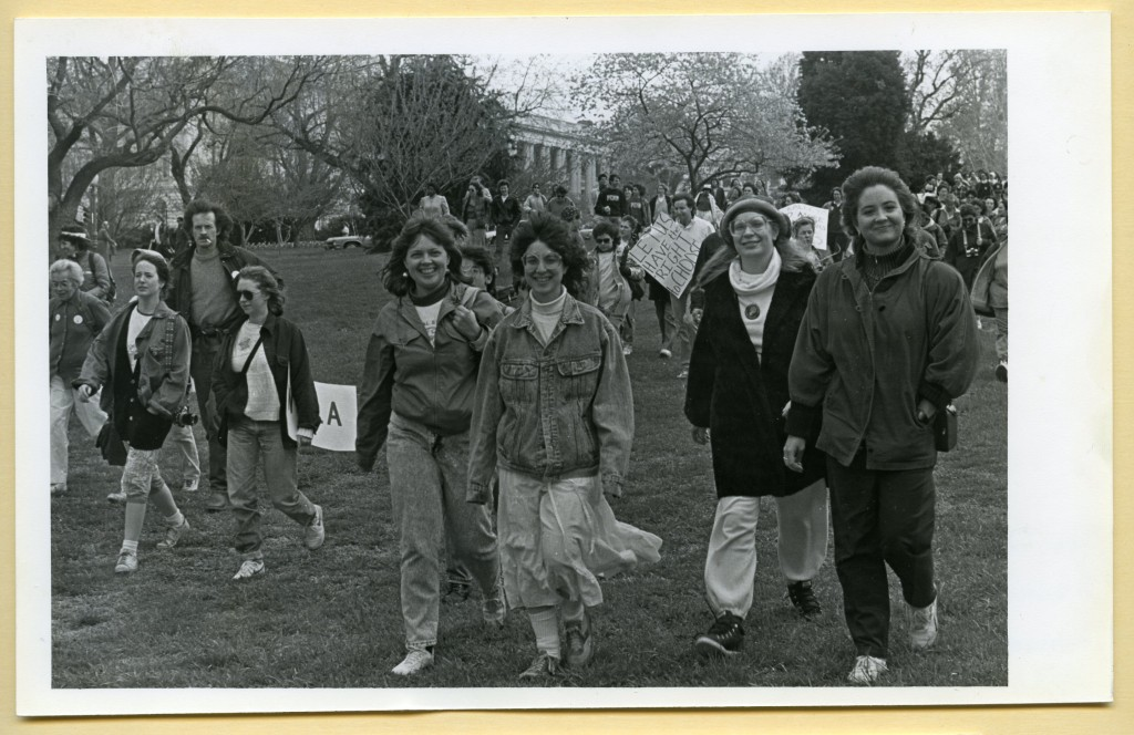 Chatham students at a Pro-Choice rally in Washinton, D.C. in 1989
