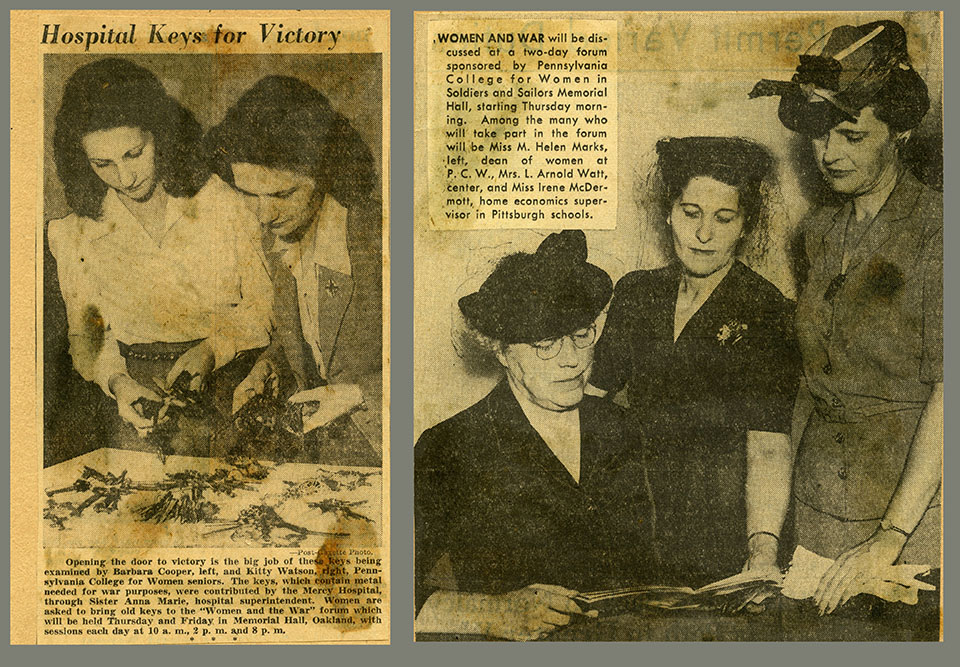 "Clippings documenting Chatham's ""Women and the War"" Conference"
