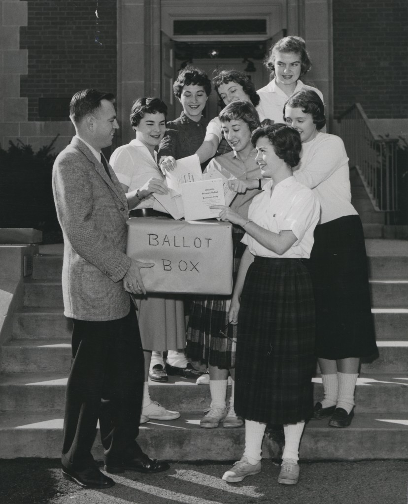 Students from Harrisburg cast their absentee ballots.