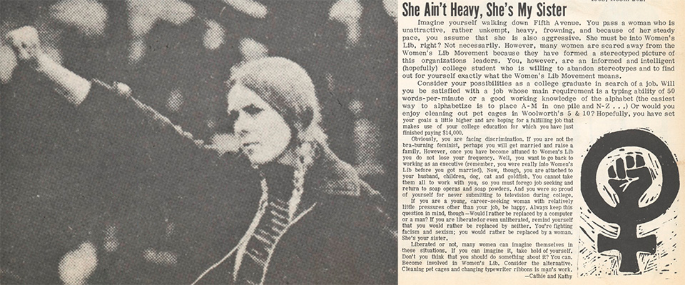 "Editorial appearing in Chatham's ""The Arrow"" in 1970"