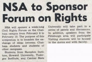 Newspaper Clipping Civil Rights Forum