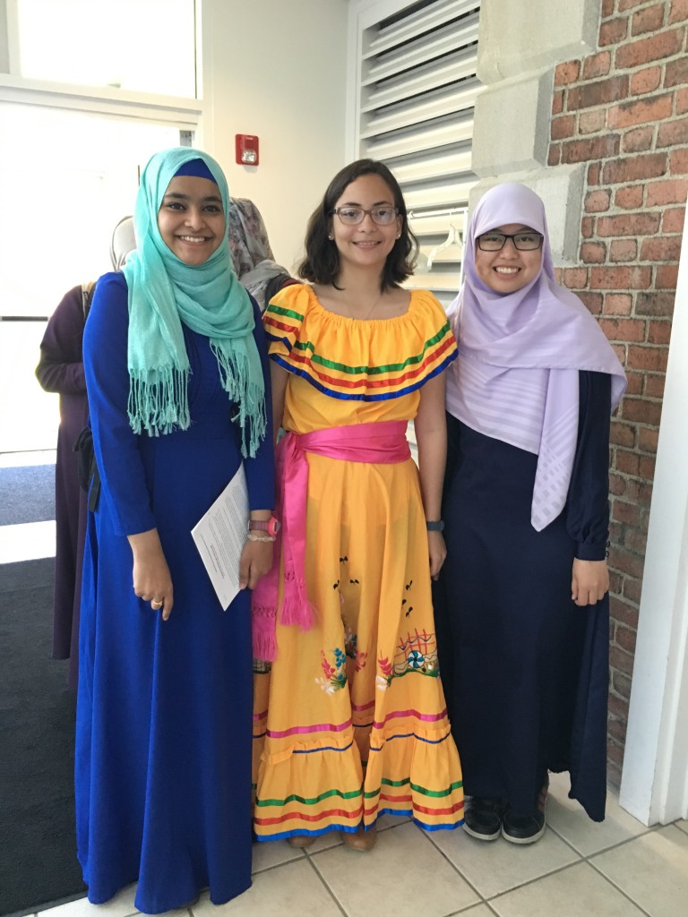 Students in their country's traditional clothes