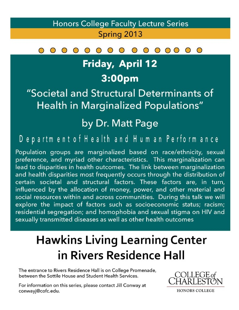 Faculty Lecture Series-April12