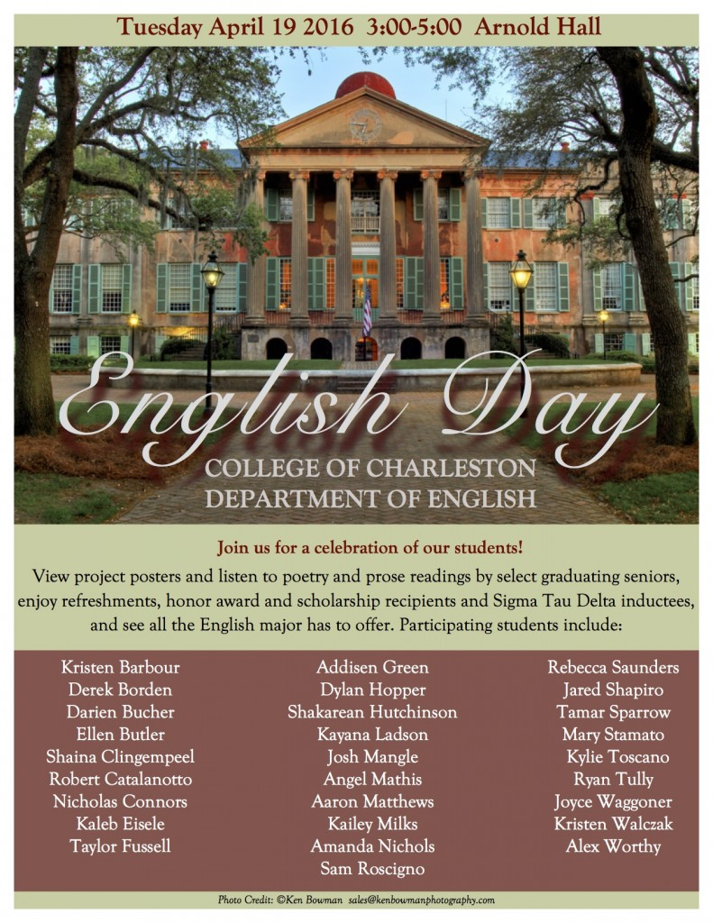 English Day 2016 flyer
