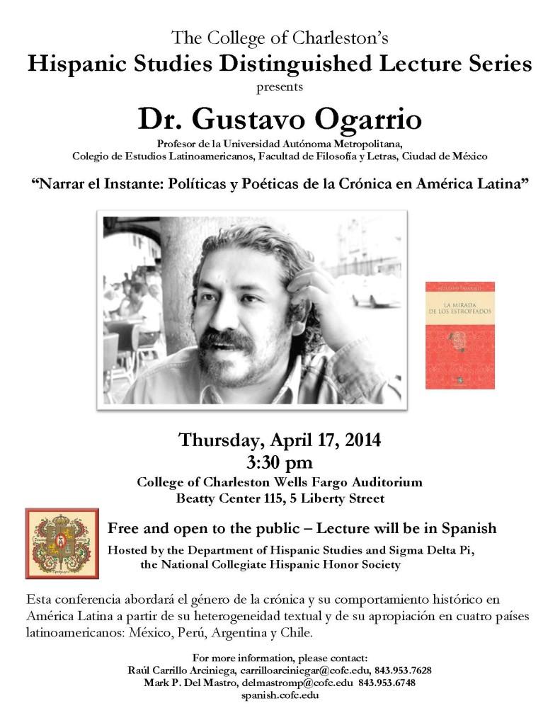 Gustavo Ogarrio lecture flyer 4 17 14