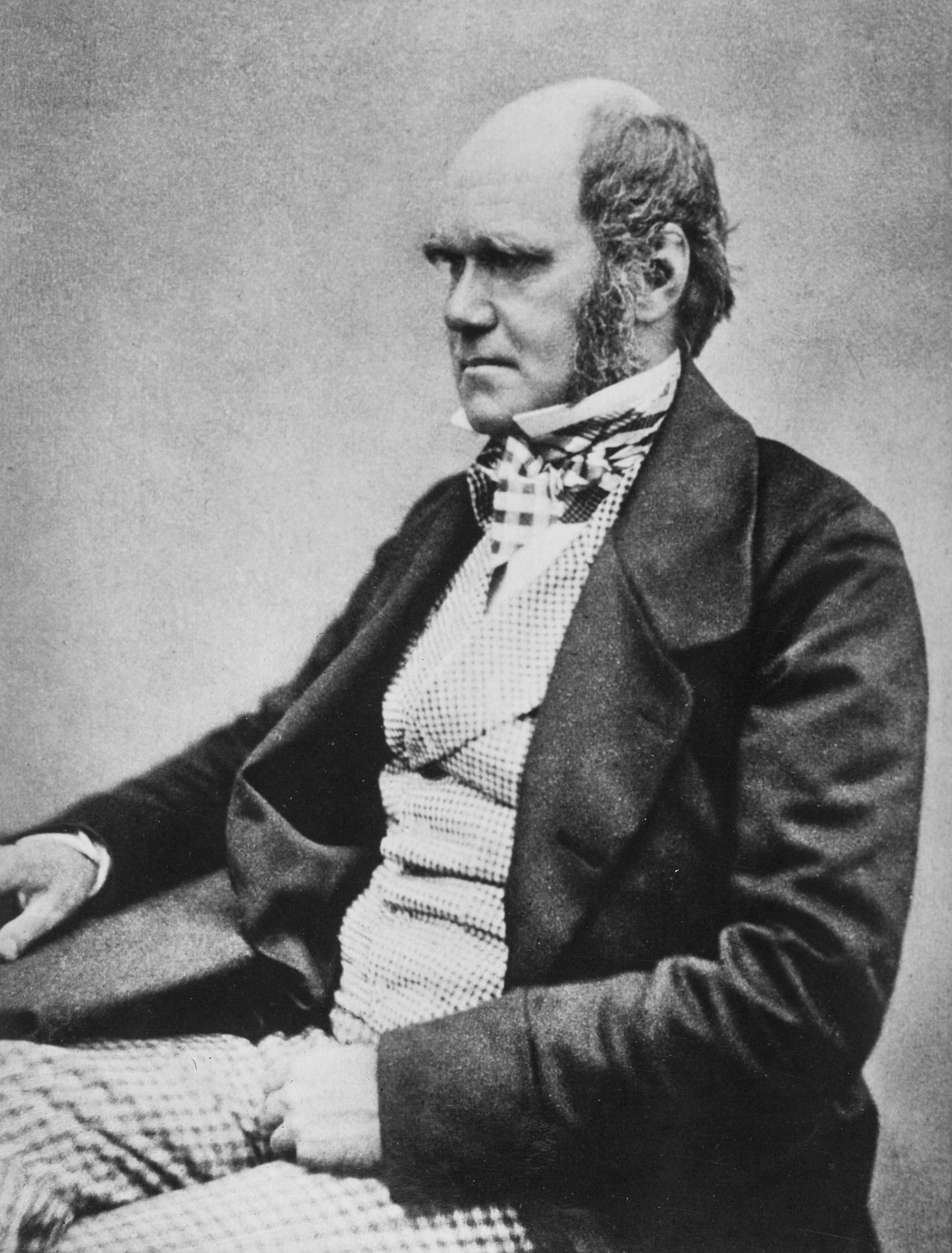 Charles Darwin around the time of publishing On the Origin of Species. Image from WikimediaCommons.