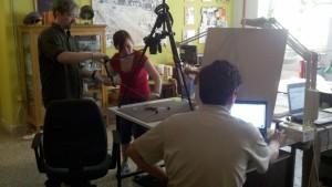 Kevin Pluta, Jami Baxley, and Dimitri Nakassis testing the RTI procedures.
