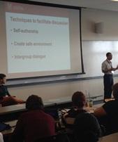 Chris -Marcus Kitchings presenting