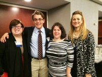 pictured left to right: students Mary Lucas, Emeline Wolff, Matthew Raczka and REACH Director, Edie Cusack