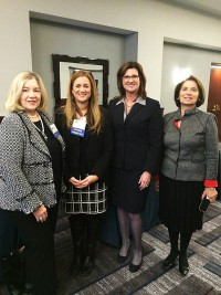 from left to right:  Stephanie Smith Lee, current Chair of the Think College Accreditation Workgroup, Edie Cusack, CofC, REACH Director, Melody Musgrove, Director of the Office of SpecialEeducation and Rehabilitation Services forthe US Department of Education and Madeline Will, former Assistant Secretary US Department of Education and co-founder of Collaboration to PRomote Self - Determiniation.