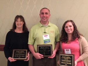 Advising Award Recipients (from left to right)  Dr. Dee Dee Joyce, Tom Bucheit,and Shannon Farrelly