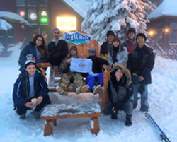 iCHS Kelowna students after a day of skiing and snowboarding at Big White Ski Resort.