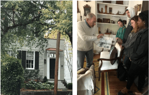 At 35 Chapel Street, current owner discusses renovation with students