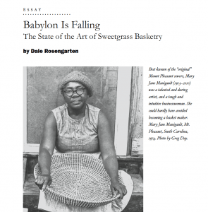 """First page of article """"Babylon is Falling"""""""
