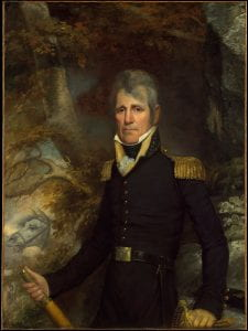 Oil painting of Andrew Jackson