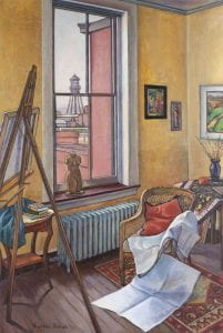 Painting of artist's studio