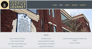 Home Page for Charleston Justice Journey website