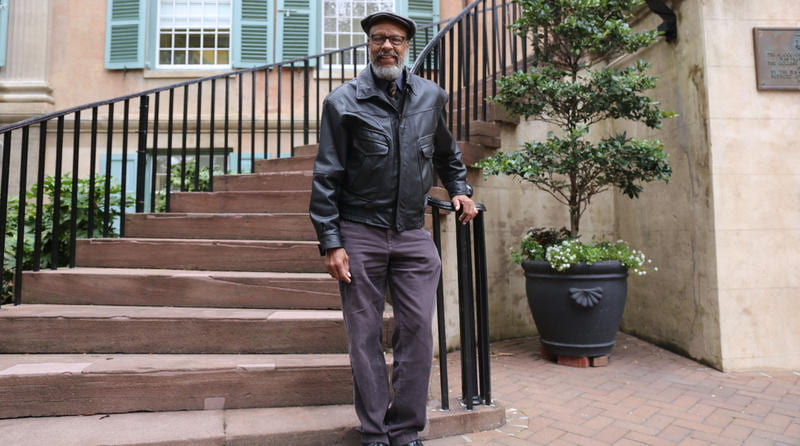 Dr. Bernard Powers in front of Randolph Hall