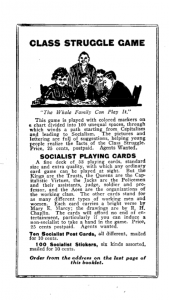Socialist Games from Charles Kerr Press, circa early 20th c.