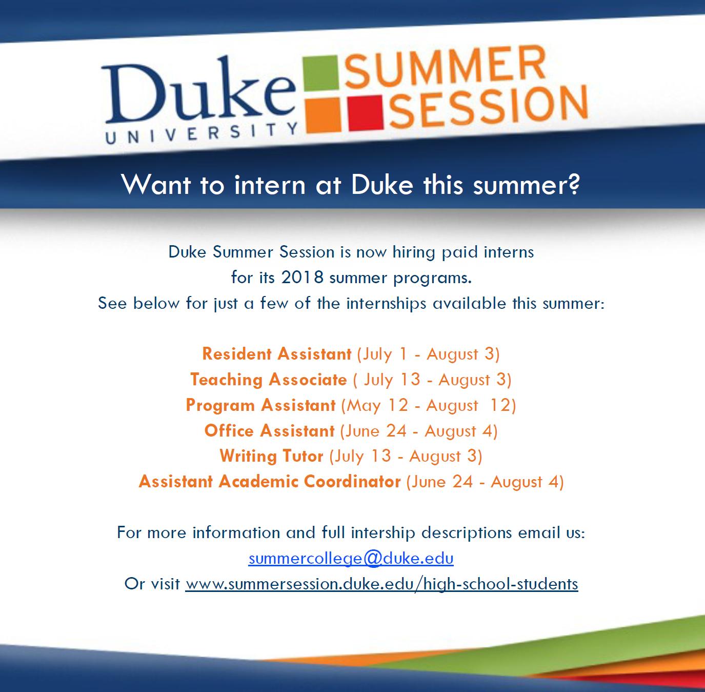 writing summer internships