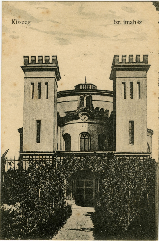This postcard from the Rosenthall portfolios gives a clearer view of the synagogue in Kőszeg.