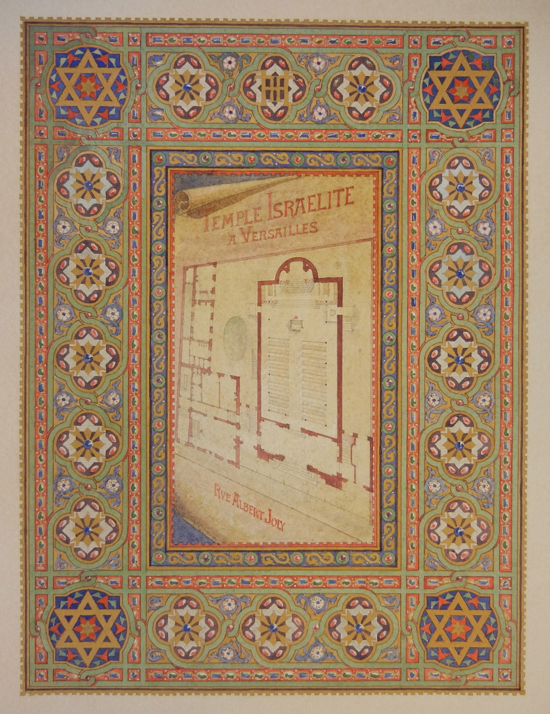 Versailles Synagogue plans