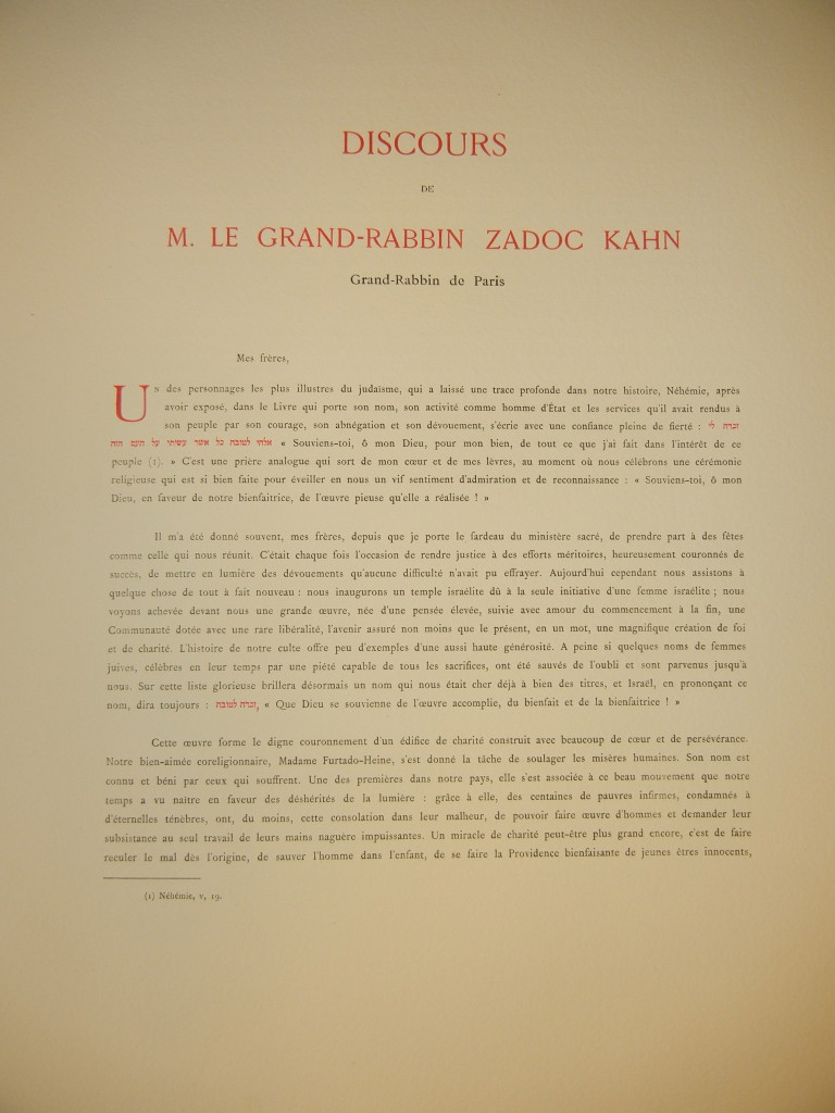 Versailles Synagogue speech Zadoc Kahn