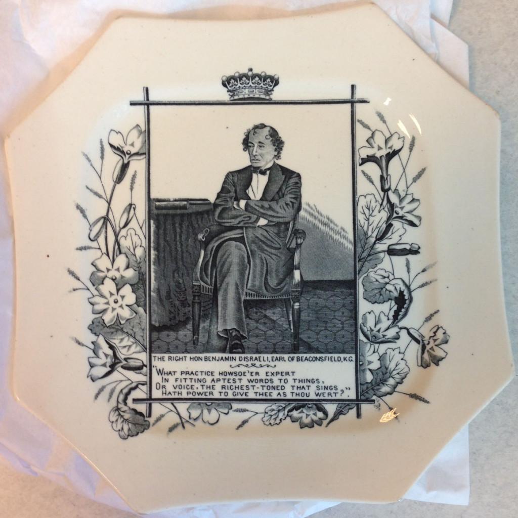 Benjamin Disraeli commemorative plate