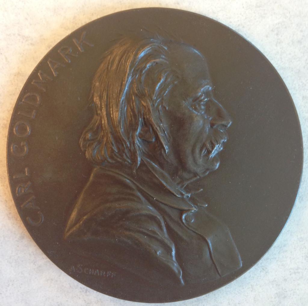 Carl Goldmark medal front