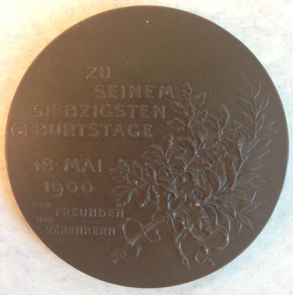 Carl Goldmark medal reverse