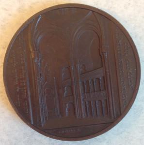 Glockengasse Synagogue medal reverse