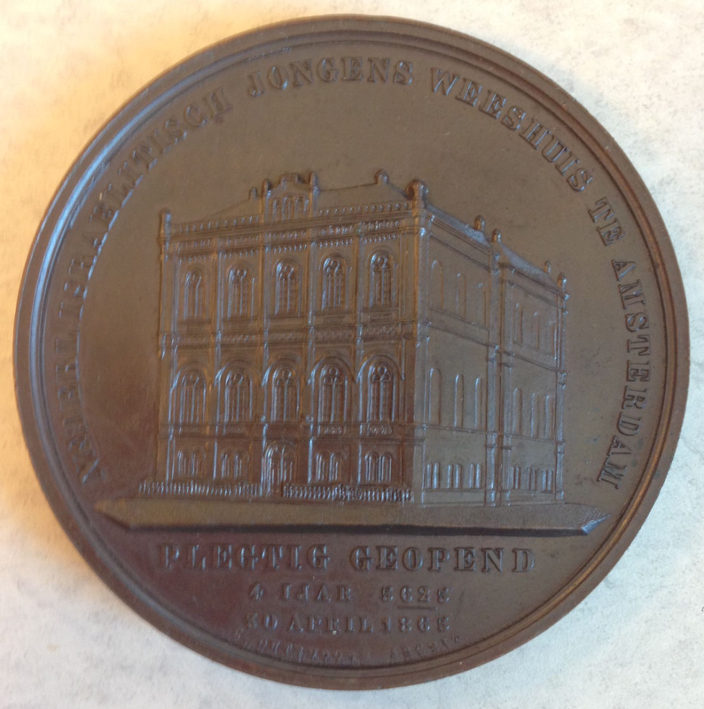 Jewish Orphanage Amsterdam medal front