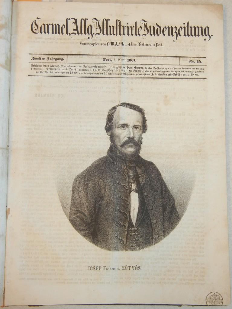 József Eötvös (1813-1871), Hungarian writer and statesman