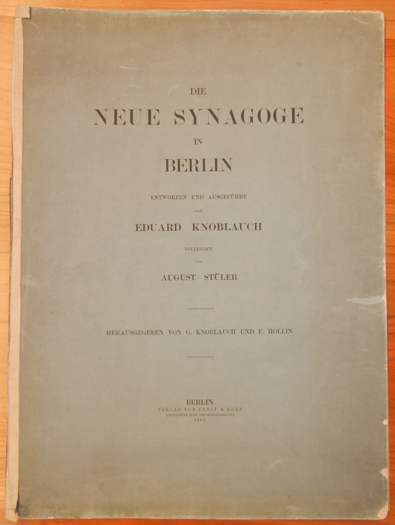 Die Neue Synagoge Berlin cover